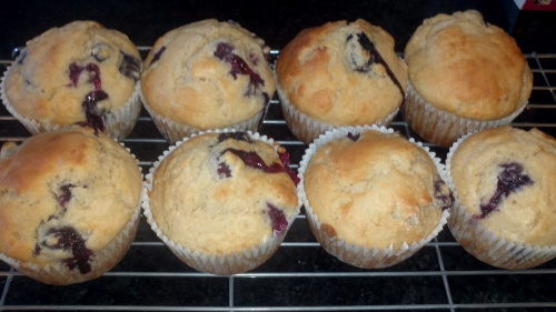 8 BLUEBERRY MUFFINS