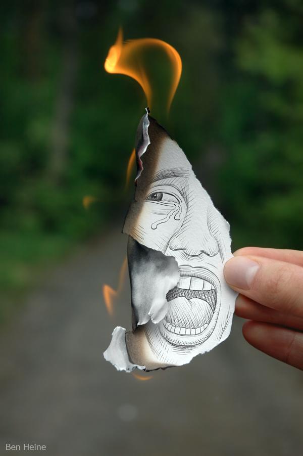 Fire by Ben Heine