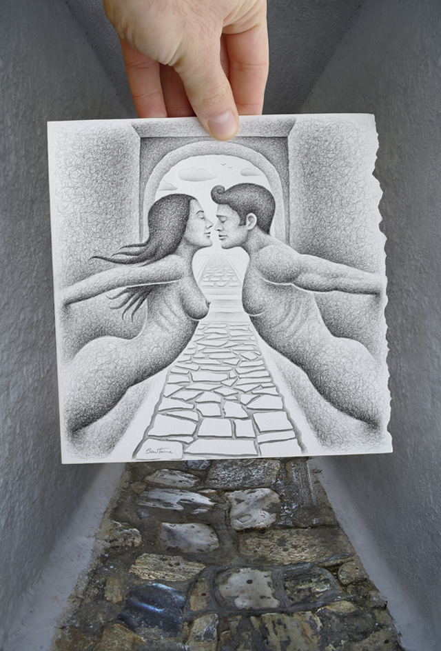 Wall people by Ben Heine