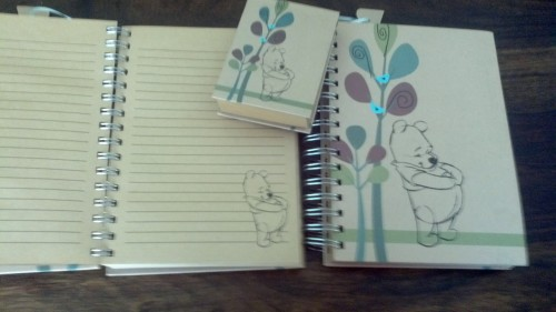 Extra cute Winnie the Pooh notebooks