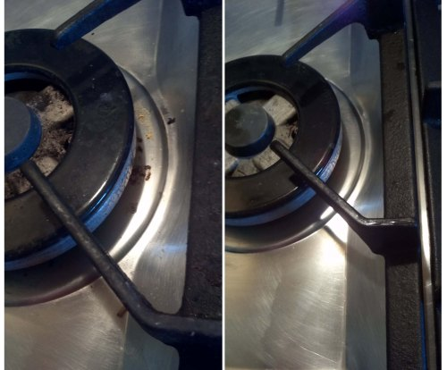 Wok ring before and after