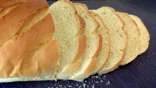 Prepare your bread. Cut it into thin slices and remove the crusts.