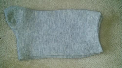 Fold socks in half