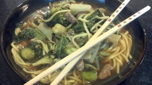 Beef and Vegetable Noodle Soup