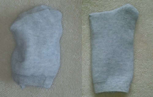 My socks folding method before and after Kate's visit