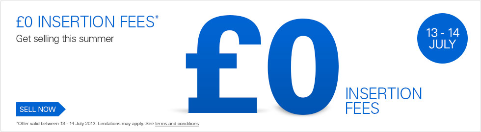 Ebay Co Uk Zero Insertion Fees 13 14 July Bark Time