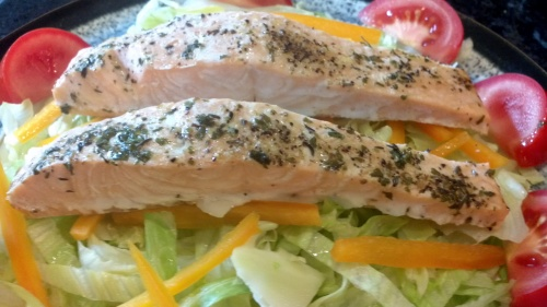 Oven Poached Salmon in White Wine