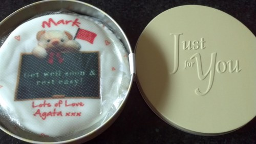 The Baker Days cake arrived in a lovely metal tin, which will stay with you long after the cake is gone