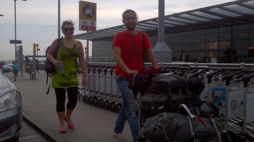 First glimpse of my sister after years of travel