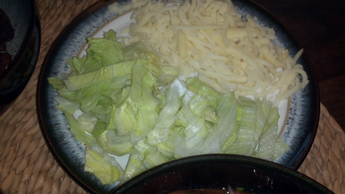 Cheese and salad