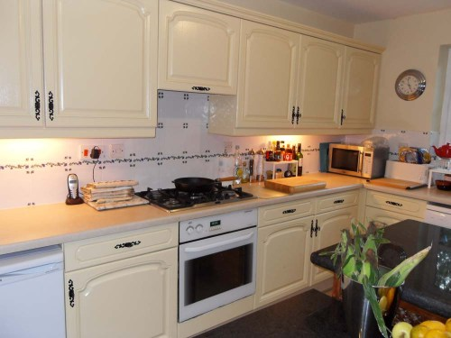 Our current kitchen after a well done DIY project  – please keep in mind this was 4 years ago