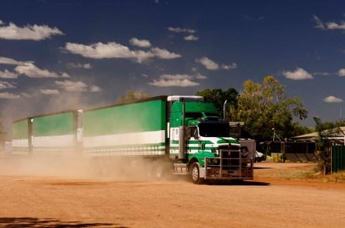 Road train – as seen in Australia