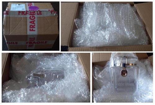 Lots of bubble wrap inside the box in order to protect your new purchase in transit. Big plus for the Treat Republic.