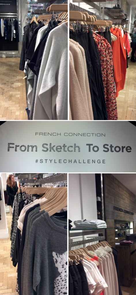 #sketchtostore #stylechallenge with Come Round and French Connection