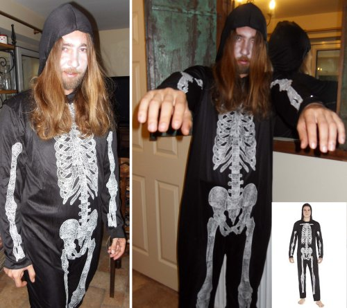 Halloween Men's Skeleton Costume from F&F