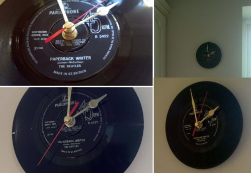 My new The Beatles – Paperback Writer Vinyl Clock