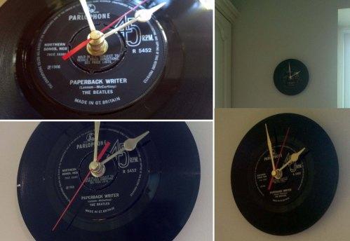 My new The Beatles – Paperback Writer Vinyl Clock