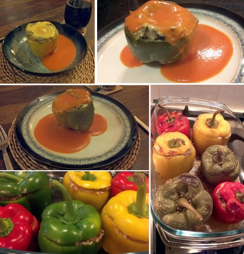 My Peri Peri Meat and Rice Stuffed Peppers