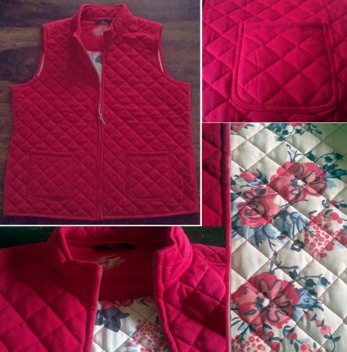 My Bonmarche Jersey Quilted Gilet in red
