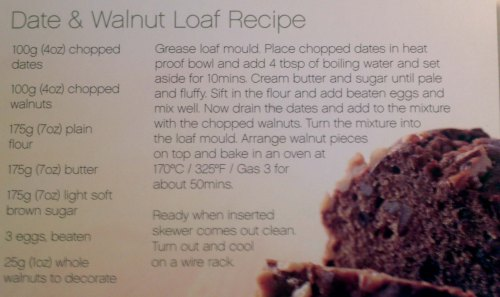Date and Walnut Loaf Recipe - really easy to follow