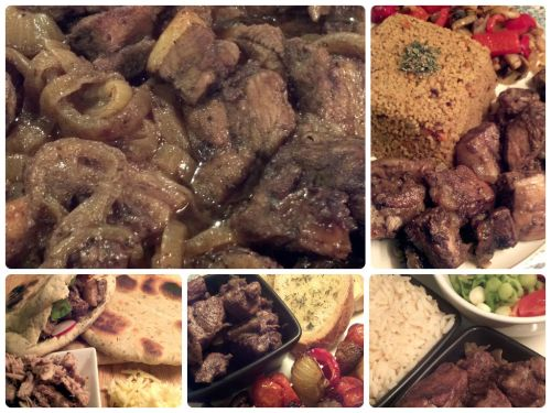 Afelia – one dish four ways