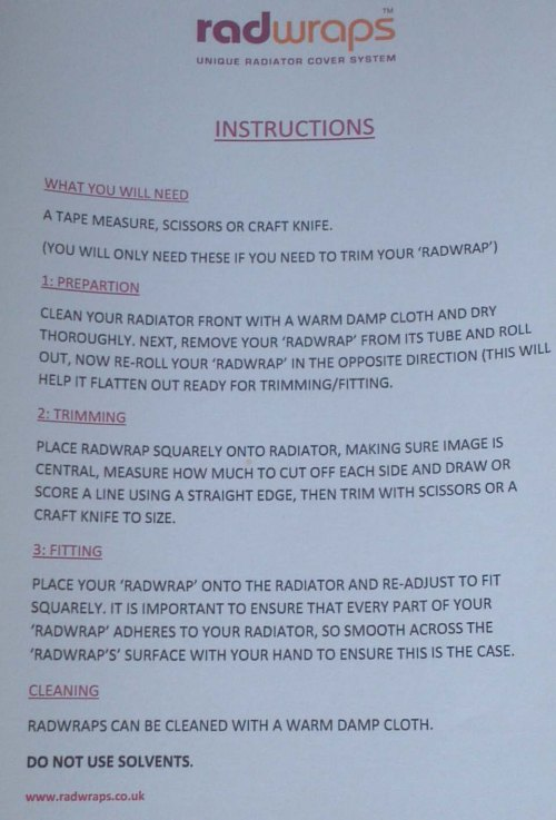 Radwraps Instructions