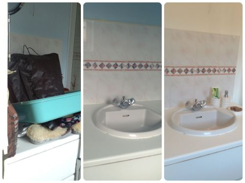 Sink area before and after transformation