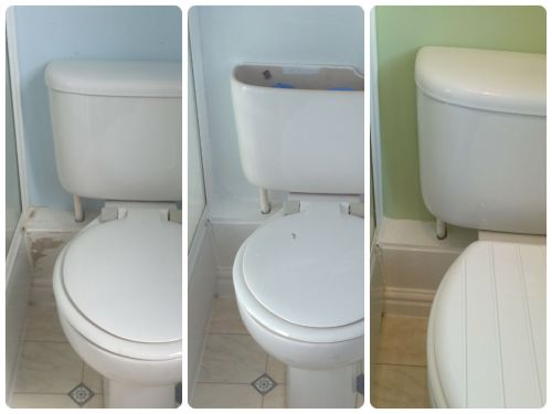 Loo corner transformation including a new toilet seat