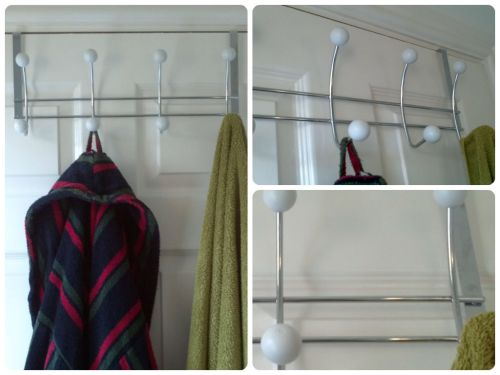 Bathroom Makeover on a Budget The Over Door Hook