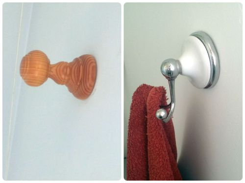 Bathroom Makeover on a Budget The Towel Hook
