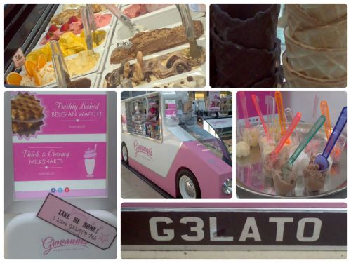 Awesome tasting gelato from Giovanni's Gelato