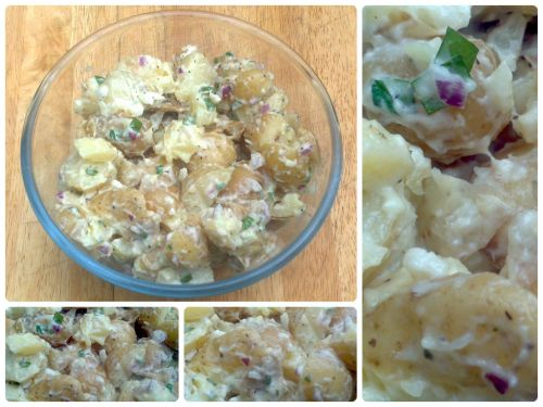 Quick and Easy Baby Potato Salad with Mint and Onion