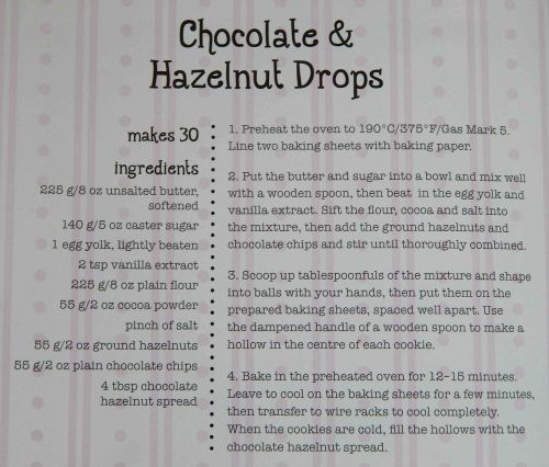 Chocolate and Hazelnut Drops Recipe