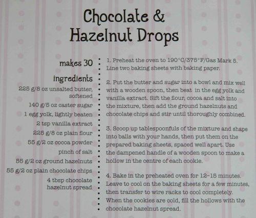 Chocolate and Hazelnut Drops Recipe
