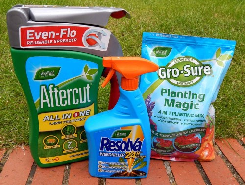 Gardening must haves – Gro-Sure, Resolva & Aftercut
