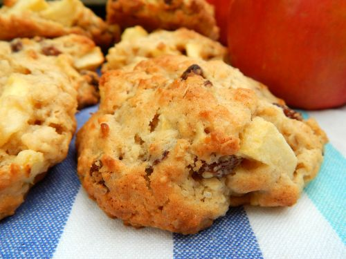 Apple and Oat Cookies.
