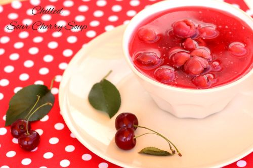 Chilled sour cherry soup from ingenious cooking