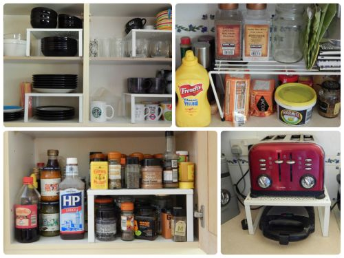 My Kitchen Storage Solutions – Cupboard Organizer – Raised Shelves
