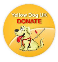 Yellow Dog Donate Badge