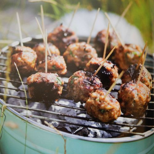 """Parragon Book Buddy – """"The Camping Cookbook"""" Meatballs on a Stick"""