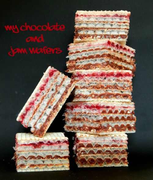 what's cooking – my chocolate and jam wafer