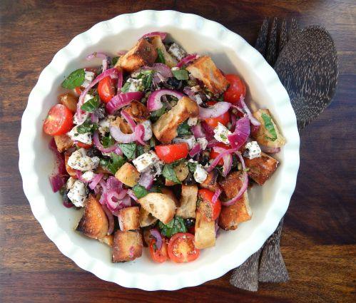 Cooking with Gousto – Mozzarella Panzanella Salad