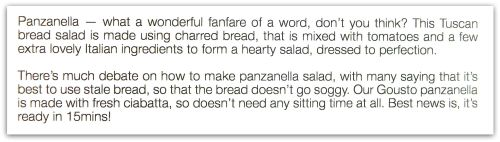 Gousto Mozzarella Panzanella Salad