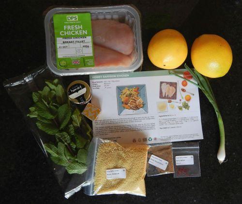 Honey Saffron Chicken with Mint & Orange Couscous Ingredients