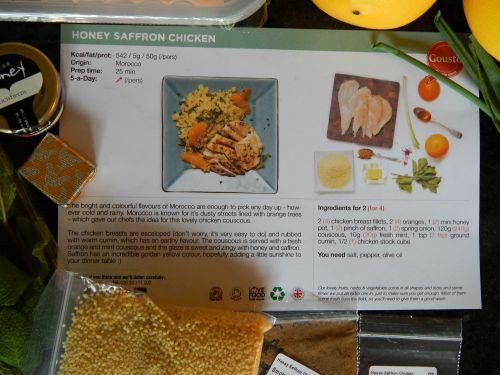 Honey Saffron Chicken with Mint & Orange Couscous Recipe
