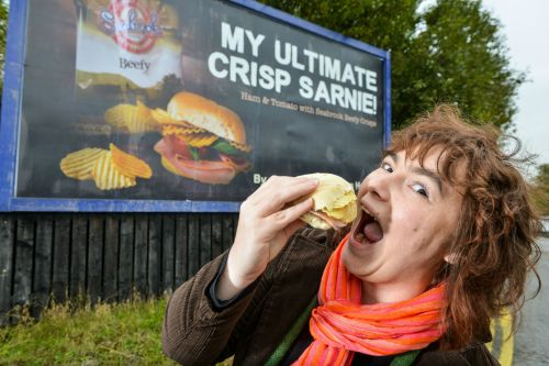 My 15 minutes of fame with Seabrook Crisps .
