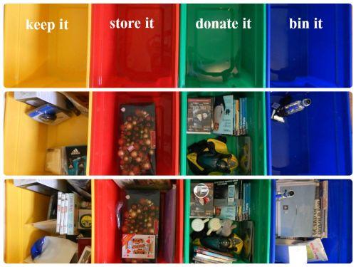 The 4-Box Challenge - segragation stage