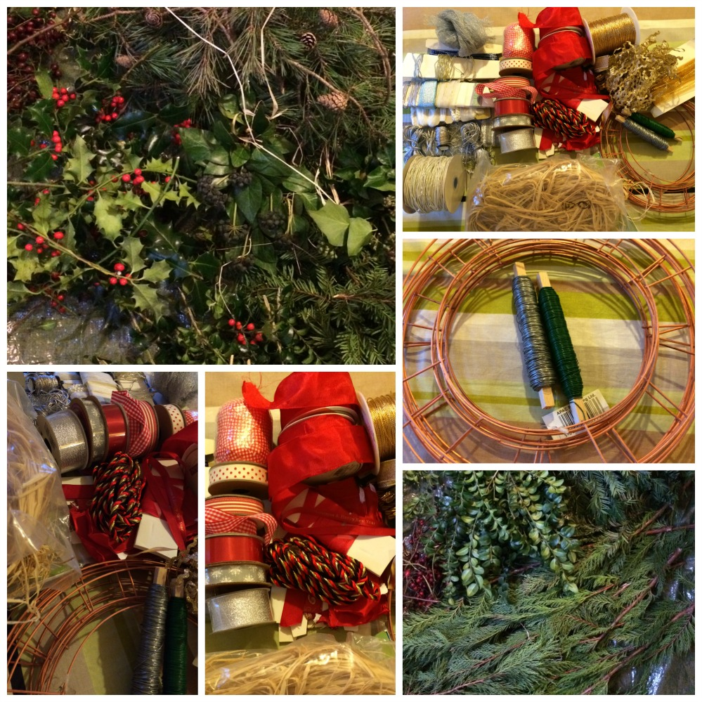 How to make a fresh christmas wreath - How To Make A Fresh Green Christmas Wreath