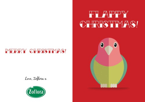 Bird - Printable Christmas Cards from Zoflora