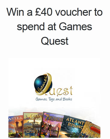 Enter to win a £40 voucher to spend at Games Quest